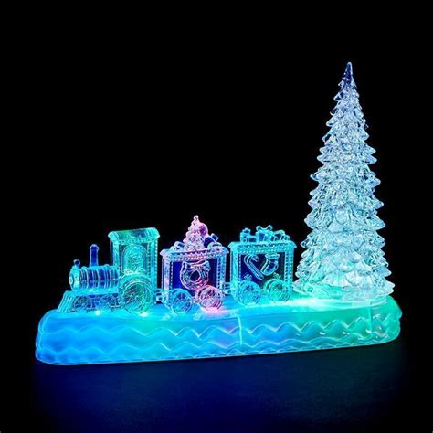led indoor animated train tree christmas decoration