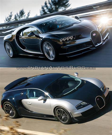 Bugatti Vs Ducati by Bugatti Chiron Vs Bugatti Veyron Front Three Quarters In