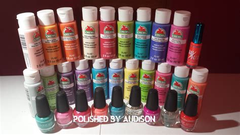 polished by audison walmart haul la colors acrylic paint