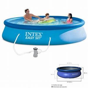 Pompe De Piscine Intex : kit piscine easy set intex 3m96x84cm pas cher en vente sur ~ Dailycaller-alerts.com Idées de Décoration
