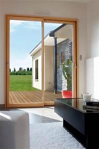 Baie Coulissante Bois : baie coulissante mixte alu bois ~ Premium-room.com Idées de Décoration