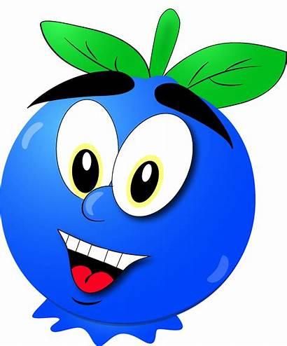 Blueberry Cartoon Clip Fruits Fruit Previos Role