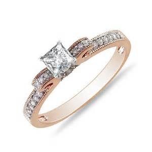 cheap princess cut engagement rings exquisite cheap engagement ring 0 50 carat princess cut on gold jeenjewels