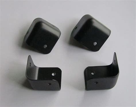 speaker cabinet corners set of 4 black 3 steel guitar lifier speaker