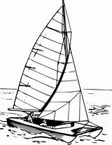Catamaran Sailboat Clipart Vector Boat Drawing Svg Getdrawings Clipground Transparent sketch template
