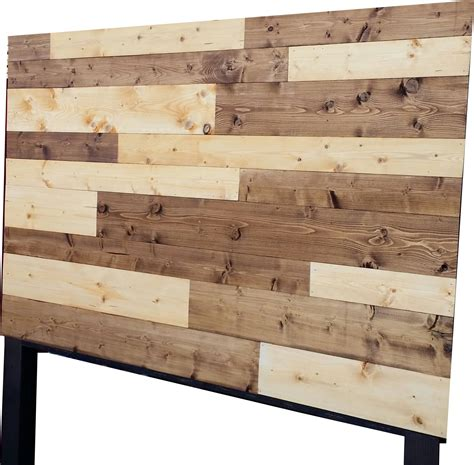 vintage headboards  color stained plank wood headboard