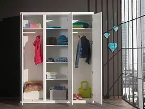 Armoire Enfant Blanche : armoire enfant 3portes blanche lorene zd1 arm e ~ Teatrodelosmanantiales.com Idées de Décoration