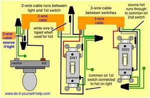 3 Way Switch Wiring Diagram  Source And Light First In 2019