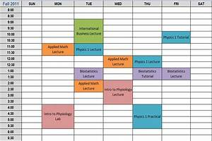 7 best images of printable class schedule maker class for College school schedule template