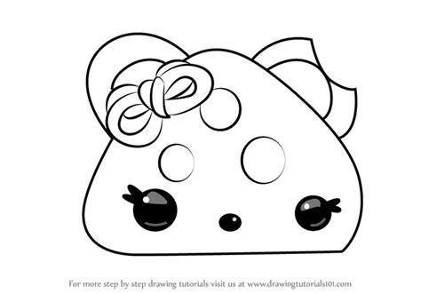 Learn How To Draw Cheesy Go-go From Num Noms (num Noms