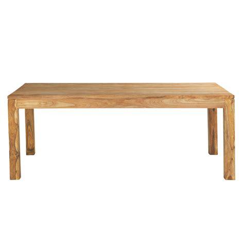 table de salle 224 manger en bois de sheesham massif l 220 cm stockholm maisons du monde