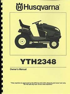 Husqvarna Yth2348 Lawn Tractor Owners  Parts Manual