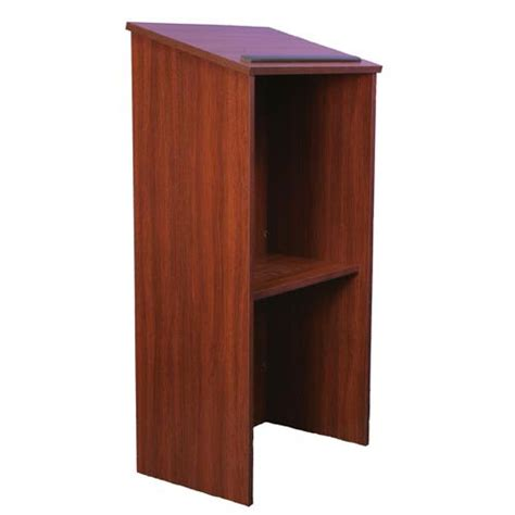 full height wood lectern  piece full height stand