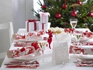 Table De Noel Blanche : r ussir sa d coration table de no l rouge et blanc ~ Carolinahurricanesstore.com Idées de Décoration