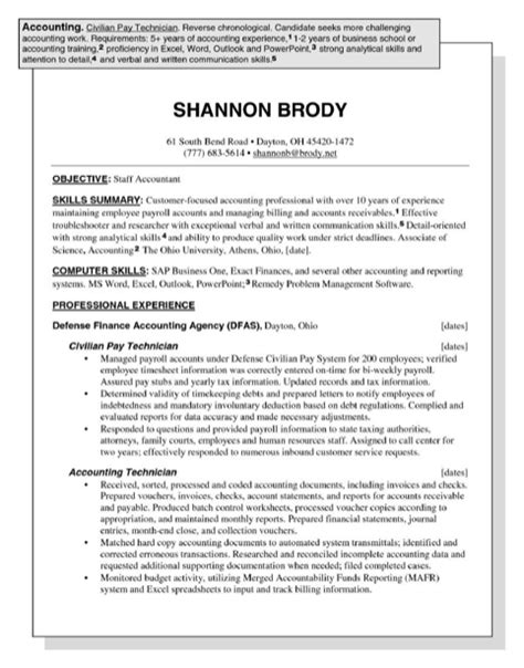 Accounting Functional Resume by Accounting Resume Sles For Free Formtemplate