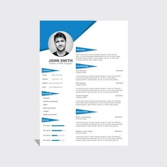 Corporate Cv Template by Simple Resume Vector Free