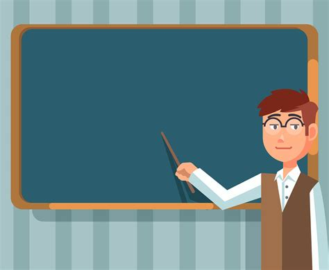 Education Background With Teacher Vector Vector Art