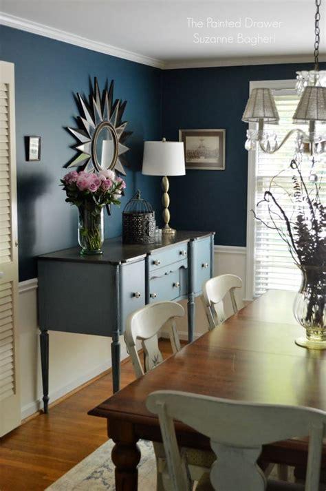 stillwater blue sideboard   rainstorm dining room