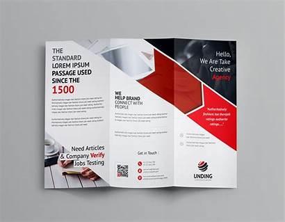 Brochure Fold Tri Template Arrow Corporate Templates