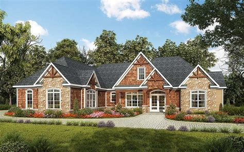 One Level Homes by One Level Luxury Craftsman Home 36034dk Architectural