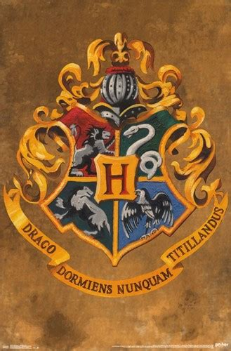 harry potter poster hogwarts crest nerdkungfu