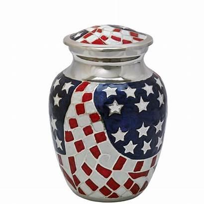 Flag American Cremation Urns Urn Wholesale Brass
