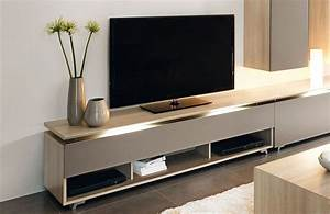 Meuble De Tele Design : banc de tv meuble de tele moderne maisonjoffrois ~ Teatrodelosmanantiales.com Idées de Décoration