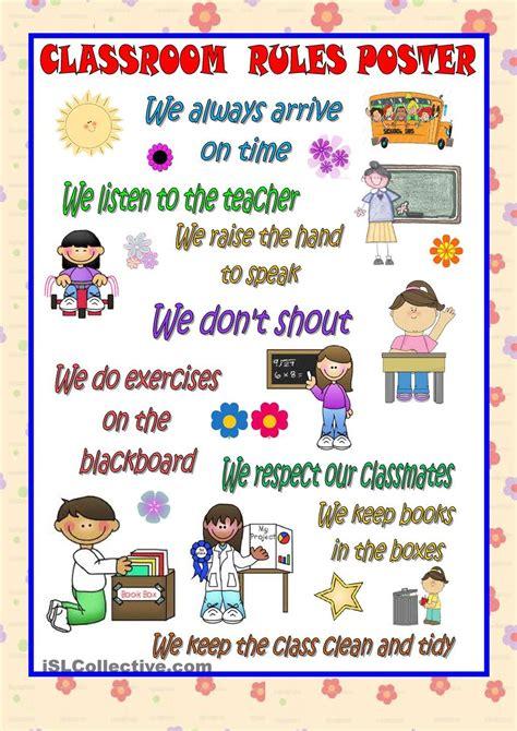 classroom poster esl 2 classroom poster 869   f76f11d53590e03deac5c30229c2d835