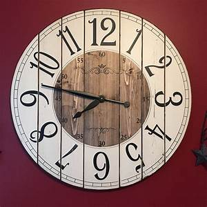 Clocks large wood wall clocks 36 inch wall clock 48 inch for Large wood wall clocks sale