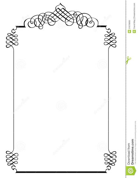 fancy page border  royalty  stock photo image