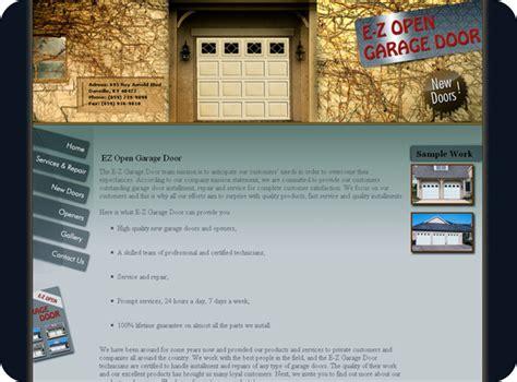 ez open garage door ignyte software web design graphic design logos business cards flash illustrations and