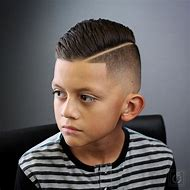 Boys Side Part Fade Haircut