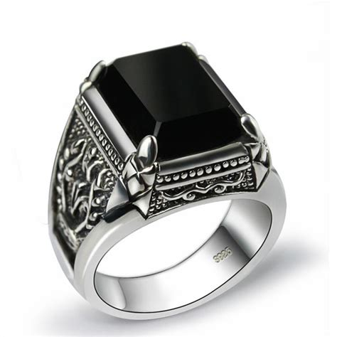 sales   sterling silver ring man retro jewelry