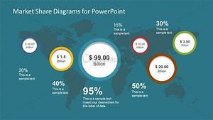 Business Market Share Diagram For Powerpoint
