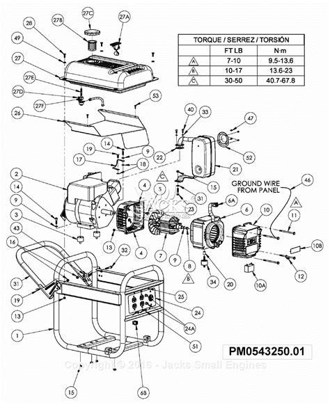 Powermate Air Compressor Wiring Diagram by Powermate Formerly Coleman Pm0543250 01 Parts Diagram For