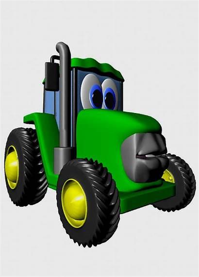 Tractor Clipart Johnny Animated Cartoon Tractors Cliparts