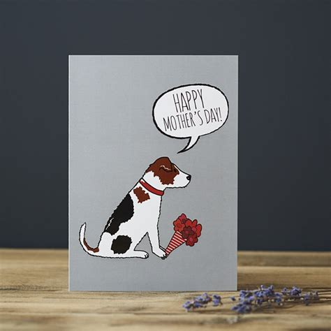 jack russell mothers day card  mischievous mutts