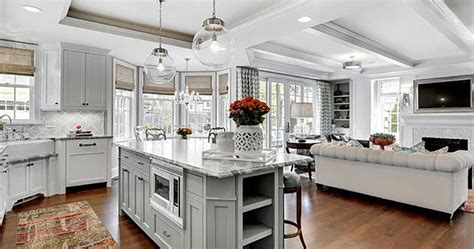 Plan Ideas For A Combined Family Room  Kitchen  Fairfax