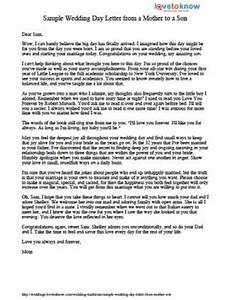 Sample wedding day letter from a mother to a son lovetoknow for Letter to mother of the bride