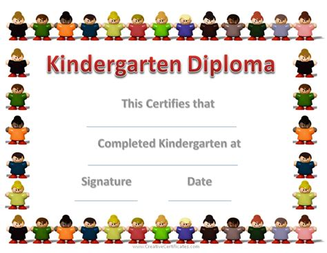 free custom kindergarten graduation certificates 355 | kindergarten graduation 51
