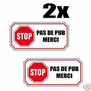 Stickers Boite Aux Lettres : 2x sticker autocollant stop pas de pub merci boite aux ~ Dailycaller-alerts.com Idées de Décoration