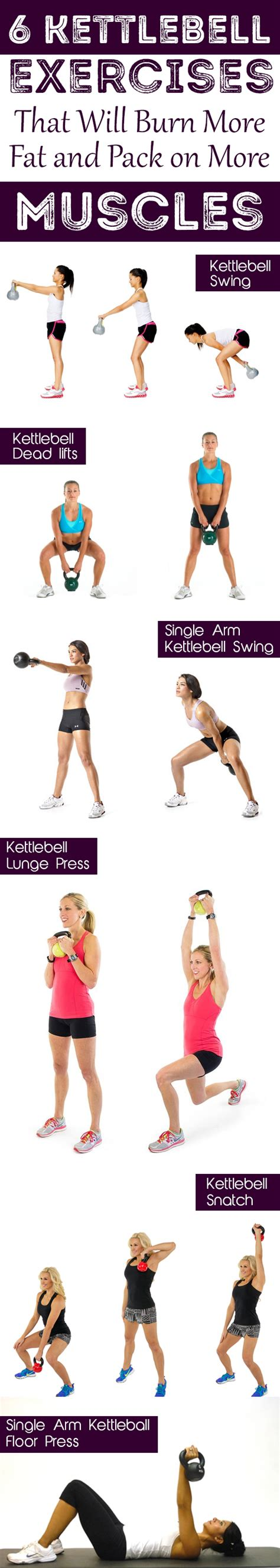 kettlebell exercises muscles fat pack burn