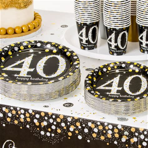40th birthday themes ideas supplies delights