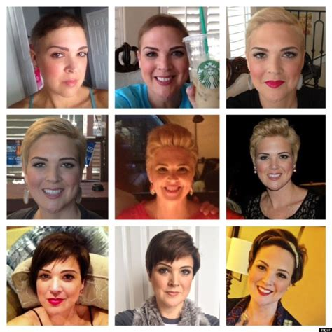 womans hair transformation   chemotherapy