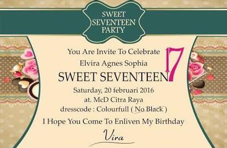 Cara Membuat Kata Kata Undangan Ulang Tahun by 10 Desain Undangan Ulang Tahun Sweet Seventeen Terupdate