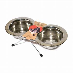 Paw Embossed Wire Double Diner Small    Rosewood Pet