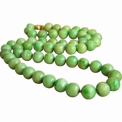 Jade Jadeite Natural Necklace Rare 14k Rubylane