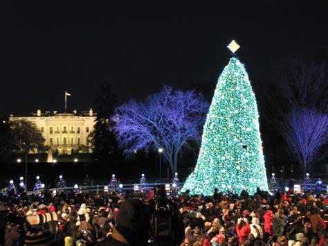christmas tree lighting ceremonies in dc md and va