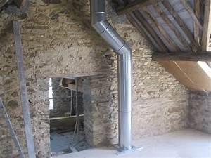 installation d un poele a bois plomberie chauffage With porte de douche coulissante avec extracteur d air salle de bain hygrostat
