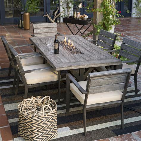 Patio Dining Furniture Sale by Belham Living Silba 7 Envirostone Pit Patio